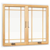 Lincoln casement Prairie Style Wood grille