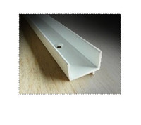 weatherstrip: quantity of (3) 8ft pieces of Park-Vue white screen track VISCH1PP8