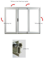 4-PIECE W/STRIP KIT INCLUDES QTY (4) 125650 PARTING STOPS FOR DOORS  9FT to 16ft  WIDE AND 8FT HIGH. MAY 1999-JULY 2011