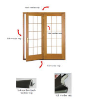 4-PIECE W/STRIP  KIT INCLUDES  QTY (3) 84'' 100826  AND (1) 84'' 139397  FOR INSWING SINGLE SWING DOORS UP TO 6FT WIDE AND 8FT HIGH