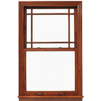 LINCOLN DOUBLE HUNG (2000 SERIES) PRAIRIE STYLE WOOD GRILLE  FOR UNITS MANUFACTURED FROM 1994 TO APRIL OF 2004