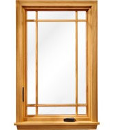 Full surround Prairie style wood grilles for Semco casement windows