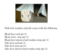 ParkVue Sliding door weather strip kit   VI_SETWS8611 for doors up to 102'' wide x 85'' tall