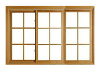 "Windsor  Pinnacle TRIPLE Glider  ""RECTANGULAR STYLE"" wood grilles"