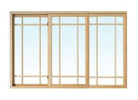 "Windsor  Pinnacle TRIPLE Glider  ""PRAIRIE STYLE"" wood grilles"