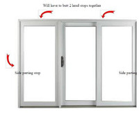 "Semco Sliding door weather strip kit for 8ft to 16ft wide and 8ft tall doors  1996 to present includes (4)   93 5/8""  2166544 parting stop weather strips and 30 ft  of 2176197 pile weather strip for interior"