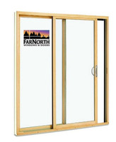 2-PANEL SLIDING DOOR FITS REPLACEMENT SIZE FOR THE DISCONTINUED SHEERER FAR NORTH CLAD SLIDING DOOR / LOW-E 270 GLASS ACTUAL DOOR SIZE = 75 1/2 WIDE X 82 1/4 TALL