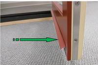 Lincoln swing door bottom rail dripedge  36'' piece