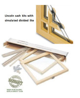"LINCOLN REPLACEMENT SASH KITS ""SIMULATED DIVIDED LIGHT ONLY""  FOR EXISTING LINCOLN WINDOWS (1980 to 2004)"