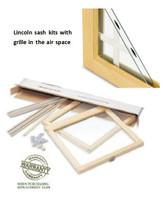 """Ficaro: LINCOLN REPLACEMENT SASH KITS """"GRILLE IN-BETWEEN THE GLASS ONLY"""" FOR EXISTING LINCOLN WINDOWS (1980 to 2004)"""