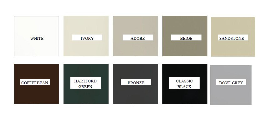 Exterior clad color choices