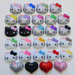 1 pc Rhinestone or Pearl Blinged Out --  Hello Kitty Face Resin Flatback Cabochon ----  lovekitty