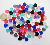 20 pcs Mixed colors dotted Flat Back Rhinestones (size: 12mm ) --- by lovekitty