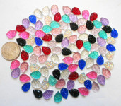 20 pcs Mixed colors dotted Flat Back Rhinestones (size: 10mm) --- by lovekitty