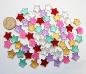10 pcs Mixed colors dotted stars Flat Back Rhinestones (size: 20mm) --- by lovekitty