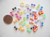 20 pcs Mixed colors Extra Small Bow For Nail Art  (size: 8mm) --- by lovekitty