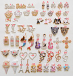 Rhinestone Alloy  Bling Bling decoden piece --- by lovekittybling - #3