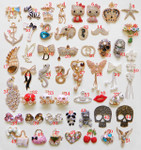 Rhinestone Alloy Bling Bling decoden pieces --- by lovekittybling #2