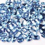 30 pcs Light Blue Cut Back Mixed Sizes Gems-- lovekittybling