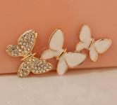 1 piece  Rhinestone Butterlies Bling Bling Decoden Piece -- by lovekitty