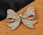 1 piece Rhinestone Bow Bling Bling Decoden Piece -- by lovekitty