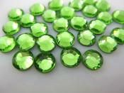 Light Green  --- 6mm  50pcs --- Rhinestones Round Flat back 14-facet ( High Quality ) --- lovekitty