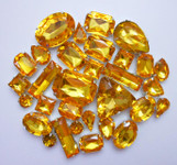 30 pcs --- Sew-On Gems -- Gold -- Mixed Shapes Gems ( has thread holes ) ---- love kitty bling