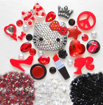 DIY 3D Blinged out Hello Kitty Kawaii Cabochons Cell Phone Case Deco Kit / Set 387 -- lovekitty