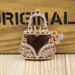 1 piece Rhinestone Purse Bling Bling Decoden Piece -- by lovekitty