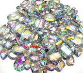 30 pcs AB Clear Cut Back Mixed Sizes Gems -- by lovekitty