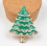 1 piece Rhinestone Green ChristmasTree Bling Bling Decoden Piece -- by lovekitty