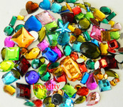 30 pcs Mixed Colors Flat Back Mixed Sizes Gems-- lovekittybling