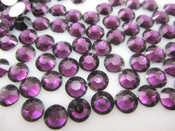 Burgundy  --- 6mm  50pcs ---Rhinestones Round Flat back 14-facet ( High Quality ) --- lovekitty