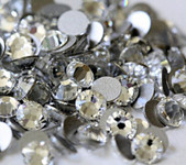 Sale Sale Sale !!!!!! Clear -- Glass Crystal Rhinestone -- 1440 pcs / Pack Flatback Round High Quality Compare to SWAROVSKI