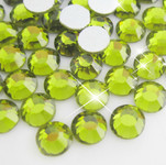 Light Yellow -- Glass Rhinestone -- 1440 pcs / Pack Flatback Round High Quality --- lovekitty