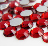 Deep Red -- Glass Rhinestone -- 1440 pcs / Pack Flatback Round High Quality --- lovekitty