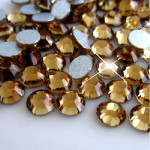 Brown -- Glass Rhinestone -- 1440 pcs / Pack Flatback Round High Quality --- lovekitty