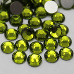 Olive Green -- Glass Rhinestone -- 1440 pcs / Pack Flatback Round High Quality --- lovekitty