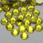 Lemon Yellow  -- Glass Rhinestone -- 1440 pcs / Pack Flatback Round High Quality --- lovekitty