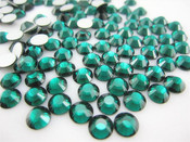 Dark Green  --- 6mm  50pcs ---Rhinestones Round Flat back 14-facet ( High Quality ) --- lovekitty