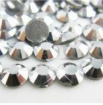 Silver -- Glass Rhinestone -- 1440 pcs / Pack Flatback Round High Quality --- lovekitty