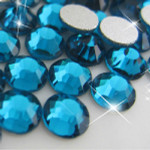 Teal -- Glass Rhinestone -- 1440 pcs / Pack Flatback Round High Quality --- lovekitty