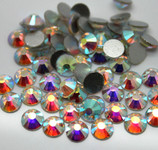 AB Clear -- Glass Rhinestone -- 1440 pcs / Pack Flatback Round High Quality --- lovekitty