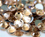 Light Peach --- SS6 144 pcs ---  Crystal Flatback Rhinestone #2028  ---  lovekitty