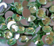 Peridot --- SS20 144 pcs ---  Crystal Flatback Rhinestone #2028  ---  lovekitty