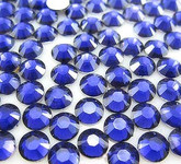 Navy Blue  --- 6mm  50pcs ---Rhinestones Round Flat back 14-facet ( High Quality ) --- lovekitty
