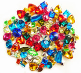 100 pcs Lot  -- Mixed Colors Small Sizes Cut Back Gems -- by lovekitty
