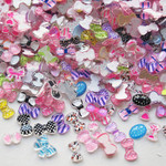 50 pcs Mixed colors Extra Small Bow For Nail Art  (size: 8mm) ---  by lovekitty