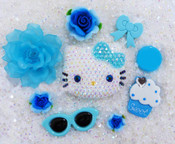 DIY Blinged Out AB Jelly Hello Kitty Phone Case Resin Cabochons Deco Kit Z416 --- lovekitty