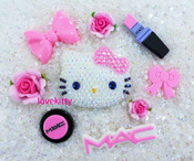 Sale !!! DIY Blinged Out AB Jelly Hello Kitty Phone Case Resin Cabochons Deco Kit Z414 --- lovekitty